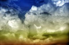 Hdr cloudscape photo background. Stock Photos