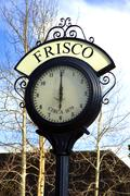 Frisco colorado. frisco is a home rule municipality in summit county Stock Photos