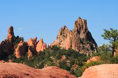 rocky garden of the gods in colorado springs - stock photo