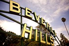 Beverly hills city sign. beverly hills, california usa. Kuvituskuvat