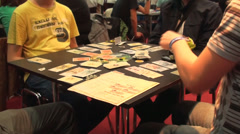 Bucharest, May The 10th, East European Comic Con Board Game Players  - stock footage