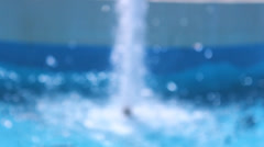 Blue sea water fall in the hot day in summer Stock Footage