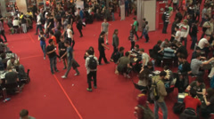 Bucharest, May The 10th East European Comic Con, Aerial View Of People Walking Stock Footage