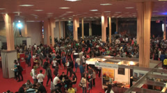 Bucharest, May The 10th East European Comic Con, Aerial View Of People Walking - stock footage