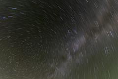 north star rotation - stock photo
