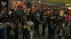 Bucharest, May The 10th East European Comic Con, Aerial View Cosplayers Posing - stock footage