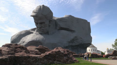 "The ""Courage"" monument at the Brest Fortress - stock footage"