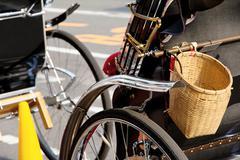 Detail of Rickshaw - stock photo