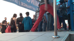 Bucharest, May The 10th East European Comic Con, Feet Detail Walking Stock Footage