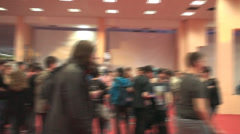 Bucharest, May The 10th East European Comic Con, Hand Held Shot Trough The Crowd - stock footage