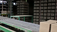Production of building blocks - stock footage