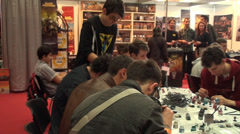 Bucharest, May The 10th East European Comic Con, People Painting Board Games Stock Footage