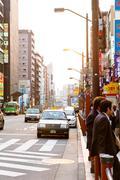 Street life in Asakusa,Japan - stock photo