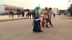 Bucharest, May The 10th, East European Comic Con, Cosplayers Taking Pictures Stock Footage