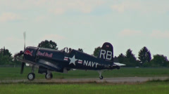 Chance Vought F4U-F Corsair Stock Footage