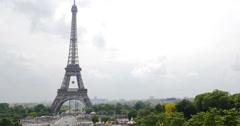 Static shot, Paris, Eiffel Tower, European City - 4K - stock footage