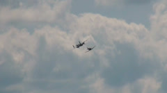 Chance Vought F4U-F Corsair and B-25J Mitchell - stock footage