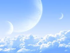 Sky in alien planet Stock Illustration