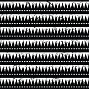 Seamless aztec tribal pattern- grunge, retro style - stock illustration