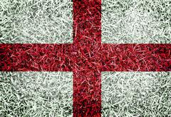 english great britain flag color grass texture background - stock photo