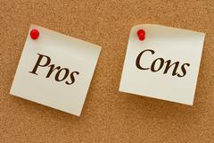 pros and cons - stock illustration
