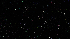 4K Twinkling spinning stars abstract background, points colorful Stock Footage