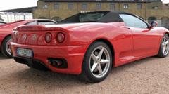 Cuorgnè, Italy, May 2014. Ferrari F340 Cabrio. Stock Footage