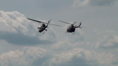 MBB Bo 105 CB and Bell AH-1 Cobra Stock Footage