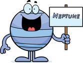 Cartoon neptune sign Stock Illustration