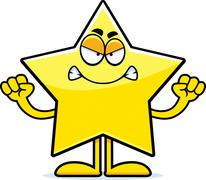 Angry cartoon star Stock Illustration