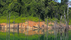 Tropical lake at Tasik Kenyir, Terengganu, Malaysia Stock Footage