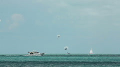 Stock Video Footage of Parasailers & Boats in Key West