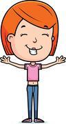 Stock Illustration of happy teen girl