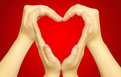 Hands form of heart Stock Photos