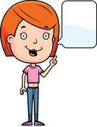 Stock Illustration of talking teen girl