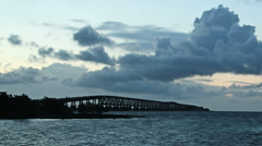 Bahia Honda Rail Bridge Time Lapse Stock Footage