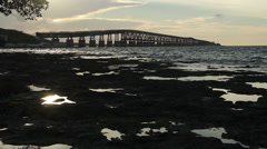 Bahia Honda Rail Bridge Early Morning 5 Stock Footage