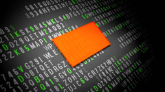 Data encryption process on tablet screen Stock Footage