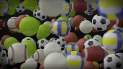 Sports balls background Stock Footage