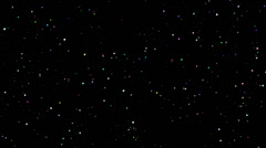 4K Twinkling spinning stars abstract background, points colorful realistic Stock Footage