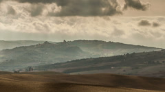 Dramatic sky in Tuscany Stock Footage