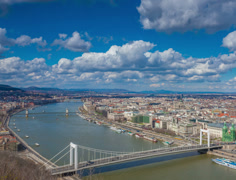Budapest timelapse 4K resolution Stock Footage
