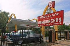 the first mcdonald's store museum in illinois, usa - stock photo