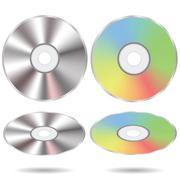 Stock Illustration of set of cd discs