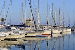 Port of Le Lavandou in France Stock Photos