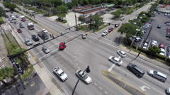 Aerial video of a traffic accident Stock Footage