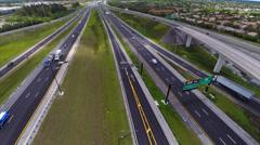 Aerial video Highway 595 Stock Footage