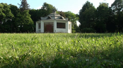 Funeral Home in the Cemetery Stock Footage
