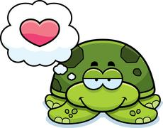 Little sea turtle in love Piirros