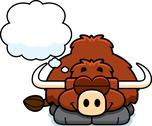 Stock Illustration of dreaming little yak